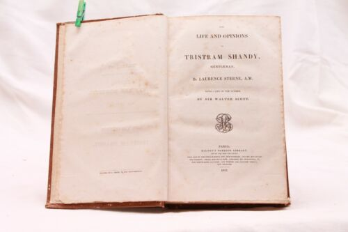 "Libro antico ""Life and Opinions of Tristram Shandy ""di L. Sterne 1832"