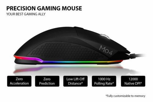 Sound BlasterX Siege M04 Optical Professional Gaming RGB Programmable Mouse LAU
