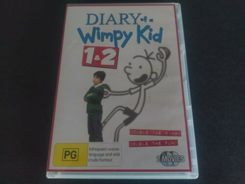 DIARY OF A WIMPY KID 1 & 2 DVD  - FREE POST - OZ SELLER