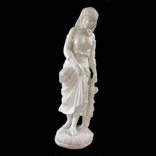 Solid Marble Statue of Young Girl  #4521
