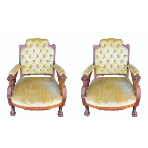 Pair Pottier and Stymus Winged Griffin Rosewood Armchair, c.1870 #7859