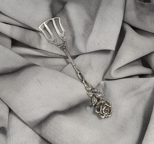 Antique Silver 925 Cake Fish Server Fork Slice Shovel Dessert Vintage Flatware