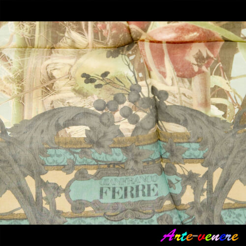 foulard Ferré originale pura seta made in italy scarf pure silk idea Nuovo new