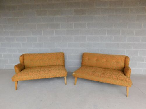 Vintage Mid Century 2 Section Sofa