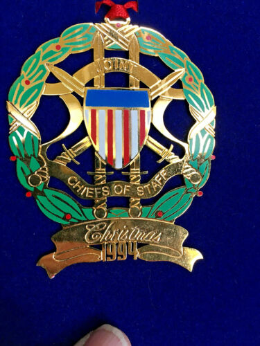 RARE (1) 1994 Joint Chiefs of Staff Christmas Ornament X004