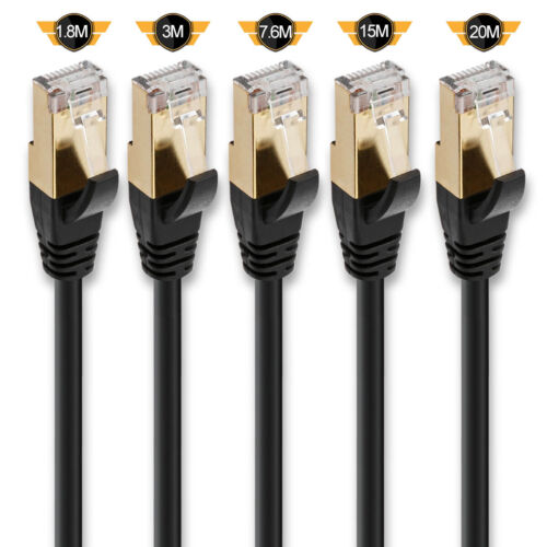 Premium Cat 8 7 6 5e Ethernet Cable Cord Lot for Ethernet Switch, IP Camera, POE
