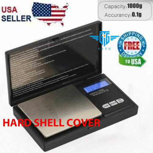 Digital Scale 1000g x 0.1g Jewelry Pocket Gram Gold Silver Coin Precise NEWScales - 34088