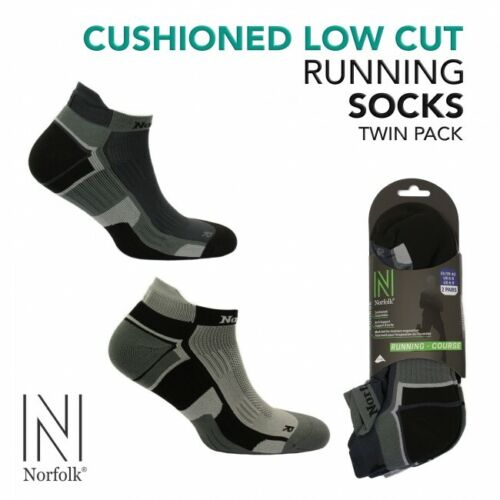 """6 Pairs (3 Pk's) Norfolk Cushioned Low Cut Running Socks """"Lewis"""" SUPER SPECIAL! <br/> 40% OFF !    WHILE STOCKS LAST   (Normally  $40.00)"""