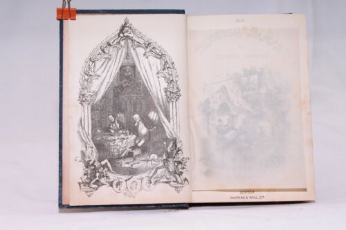 """Libro antico The posthumous papers of the Pickwick Club""""Dickens 1892 illustrato"""