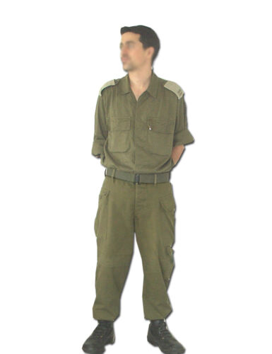 IDF Israeli Army Military 100% Cotton Fatigue Bet Combat Olive Green pants TrousOther Militaria - 135