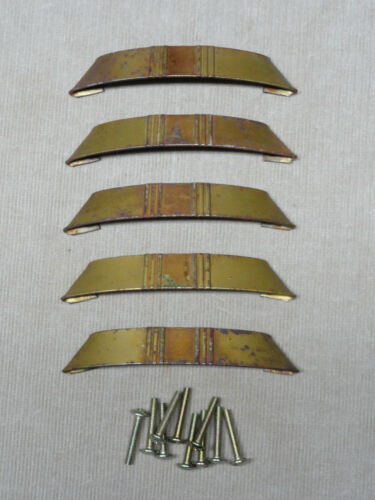 Vintage Antique Bamboo Look Cabinet Door or Drawer Pull Lot of 5 Metal Pulls 'M'