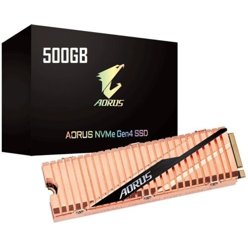 Gigabyte 500GB Aogus M.2 PCIe NVMe Gen4 SSD TLC Solid State Drive Premium Gold