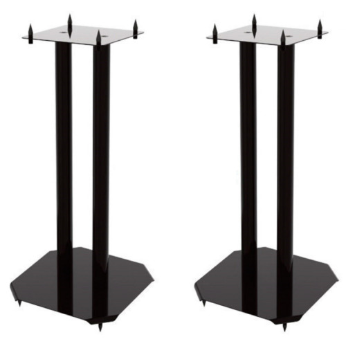 2x Stands for Hi Fi Speakers Modern Home Theater Bookshelf Vision Mounts VM-S04