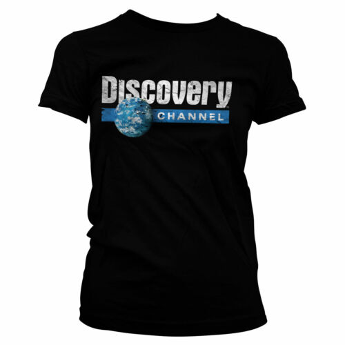 Officially Licensed Discovery Cracked Globe Logo Women T-Shirt S-XXL Sizes
