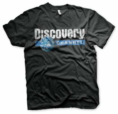 Officially Licensed Discovery Cracked Globe Logo Men's T-Shirt S-XXL Sizes