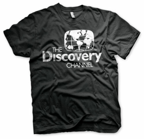 Officially Licensed Discovery Channel Distressed Logo Men's T-Shirt S-XXL Sizes