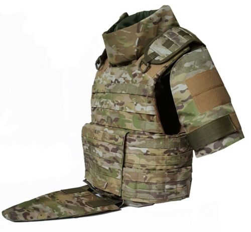 New MultiCam Full Body Armor Plate Carrier MOLLE Tactical Vest 3A Kevlarr inclOther Current Field Gear - 36071