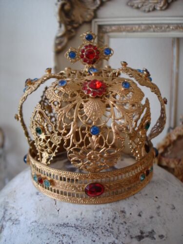 Late 1800s French Antique Jeweled Crown