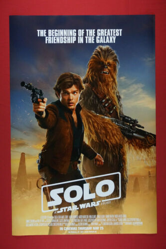 Solo Star Wars Story Han Solo Chewbacca 2018 Movie Art Poster 24X36 New  SOLO