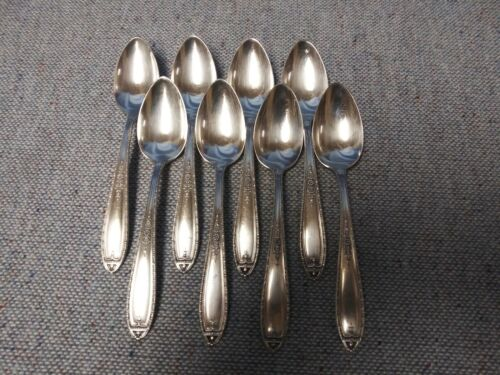 8 Alvin Silverplate Teaspoons Louisiana Pattern 1924 No Monogram Lot B