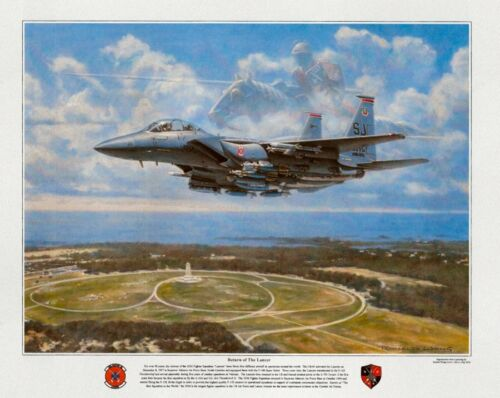 RONALD WONG F-15E Strike Eagle 4th Fighter Wing 333 Lancers w/ROBERT TAYLOR WOW!