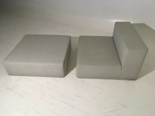 Original Kartell Geometric Cube Lounge and Ottoman Mid 20th Century Modern