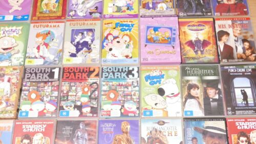 DVDS Bulk Bundle! Choose Your Own! FREE POST! TV Series, Movies, Cartoons Etc