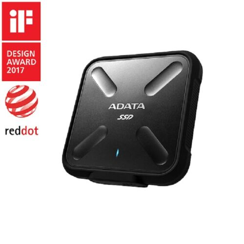 ADATA SD700 256GB Rugged Water/Dust/Shock Proof External SSD 3D NAND Black