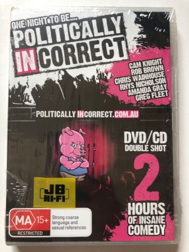 One Night To Be.... Politically Incorrect (DVD/CD) ALL Regions- NEW SEALED RARE
