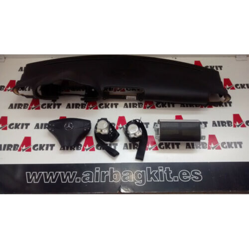 MERCEDES CLASE C W203 NEGRO 2000 -2007 KIT AIRBAGS COMPLETO MERCEDES-BENZ CLASE