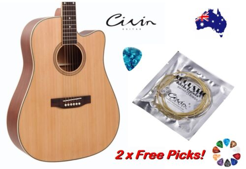 Acoustic Guitar Strings With 2 Free Picks Steel Civin Premium Light Universal
