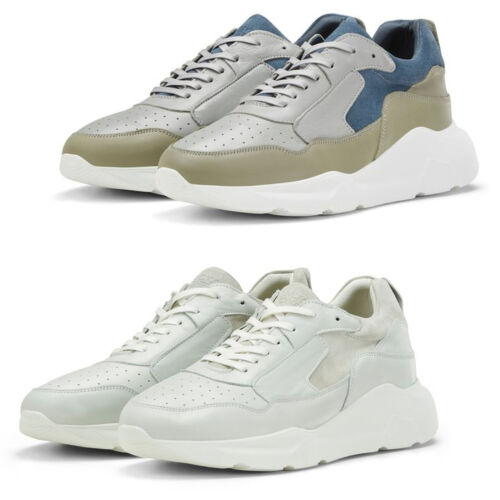 Jack & Jones Chunky Trainers JFWMunki Mens Leather Lace Up Sole Sneakers Shoes