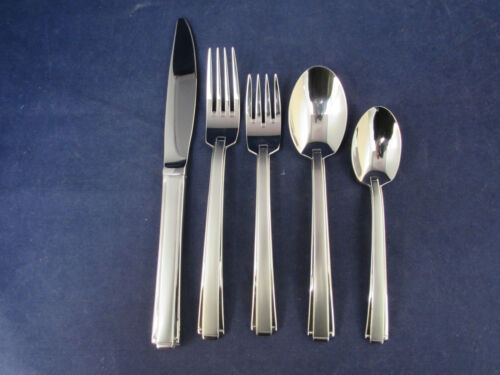 Oneida Stainless Flatware SATIN ETAGE 5pc Place Setting USA Made *