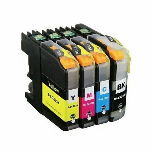 4x LC233 Ink Cartridges for Brother DCP-562DW MFC-480DW MFC-680DW MFC-880DW Chip