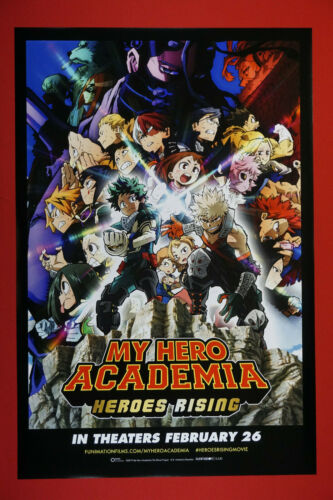 My Hero Academia Heroes Rising Anime Manga Picture Promo Poster 24X36 New  MHAR
