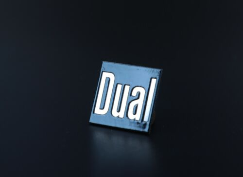 Logo Dual 15 x 15mm Mirror stainless steel  self-adhesive, replacement.