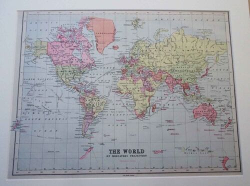 World map. 1886