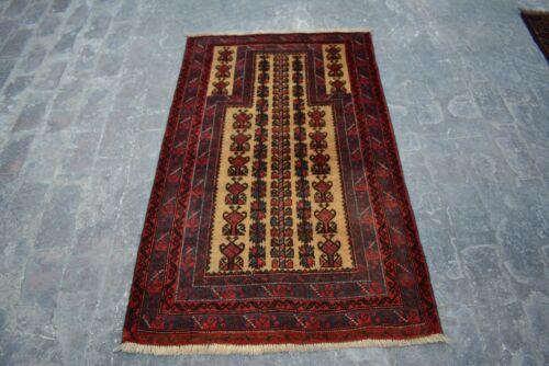 3 X 4'11 FT(FREE SHIPPING) Gorgeous Unique Tropical Handmade 'OLD' Bluchi Rug
