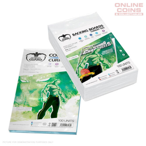 BUNDLE ULTIMATE GUARD RESEALABLE CURRENT Size Comic Bags & Backing Boards x 100