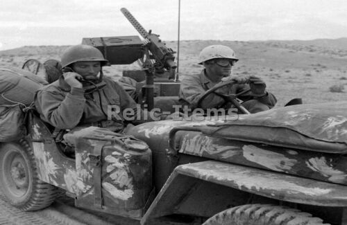 WW2 Picture Photo General George Patton at Field in a Jeep 2835