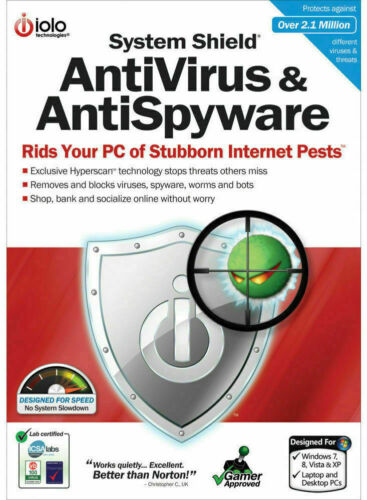 ioLo System Shield AntiVirus and Anti Spyware (2 PC - 1 Year) (eDelivery)
