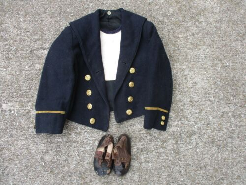 WWII German Child's Naval Uniform with Dickie and Brown Leather ShoesUniforms - 104001