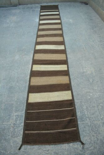 1'10 X 10'6 FT Antique Afghan Traditional Runner rug(FREE SHIPPING)