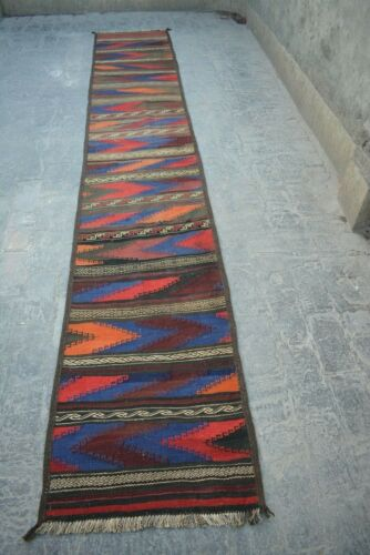 2'2 X 12'7 FT Antique Afghan Traditional Runner rug(FREE SHIPPING)