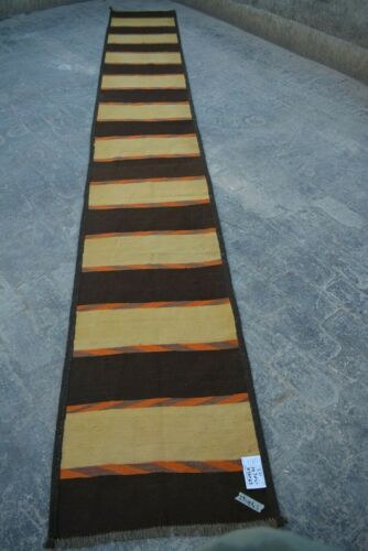 2'1 X 14'3 FT Antique Afghan Traditional Runner rug(FREE SHIPPING)