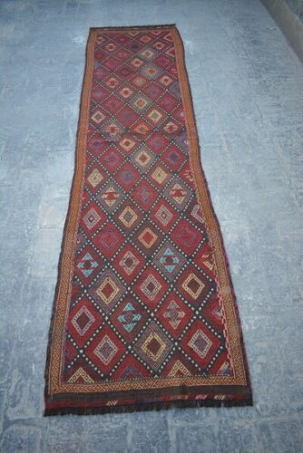 2'3 X 9'4 FT Antique Afghan Susani Runner rug(FREE SHIPPING) Old Rug
