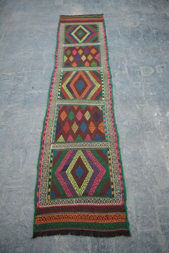 1'11X 8'1 FT Antique Afghan Susani Runner rug(FREE SHIPPING) Gorgeous Rug