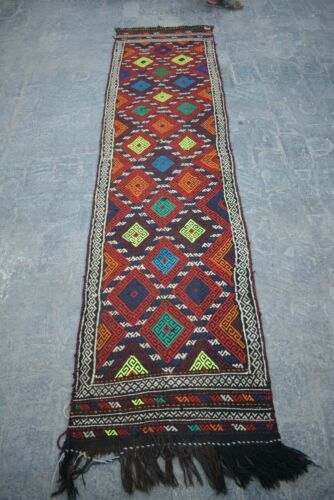 2'2 X 8'4 FT Antique Afghan Susani Runner rug(FREE SHIPPING) Gorgeous Rug