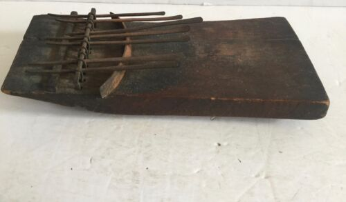 c1800's Sanza Hand Forged First Steel Tooth Instrument Rattle Music Box