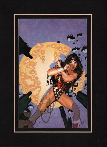 WONDER WOMAN SECRET FILES 2 COVER PROFESSIONALLY MATTED PRINT Frame Ready Hughes